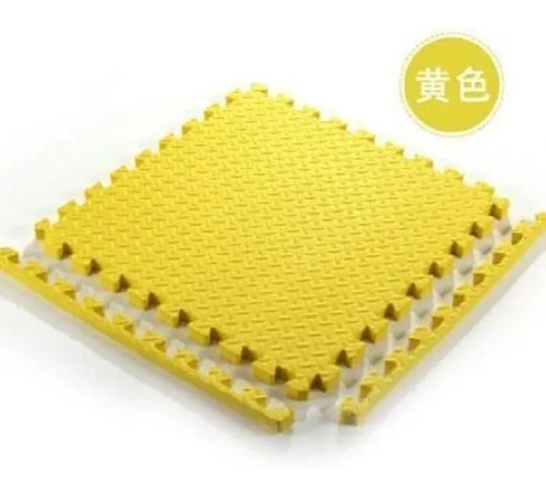 piso goma bebes 60x60cm x10mm encastrable con bordes x 12u