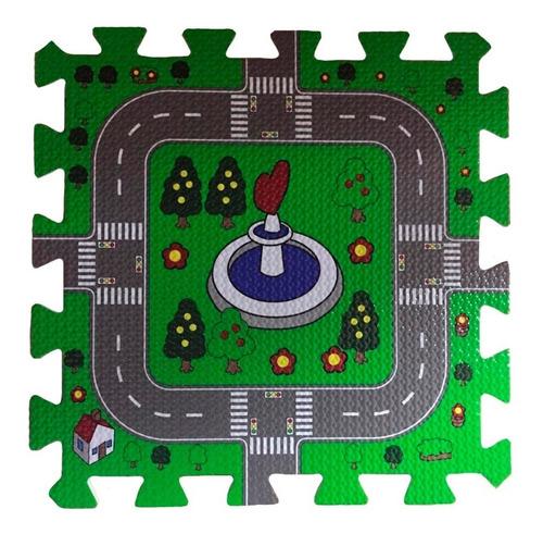 piso goma eva encastrable bebe alfombra pistas de autos niño