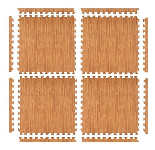 piso goma eva encastrable bebe alfombra simil madera