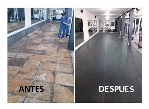 piso goma liso alto transito 1 metro ancho 2.5mm espesor ( precio x m2 )