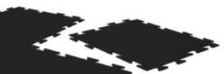 piso hule rompecabezas mayoreo 90 gym negro alta calidad