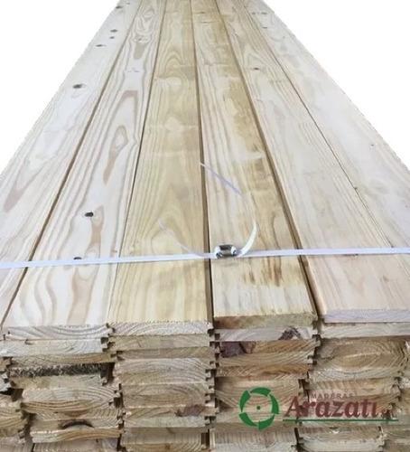 piso machimbrado 1x6 - tabla entrepiso seco madera. arazati