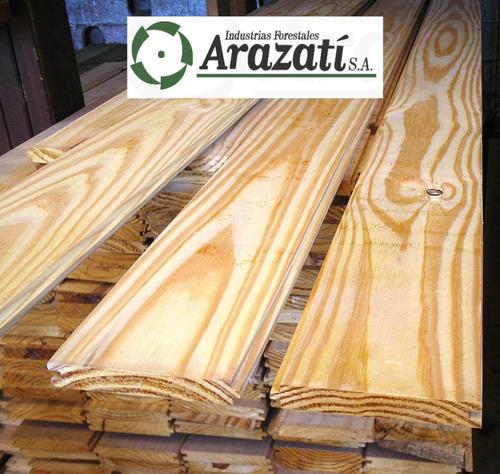 piso machimbrado - m2 - tabla entrepiso seco madera. arazati