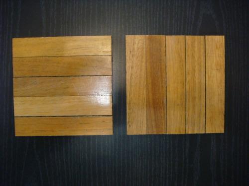 piso madera damero parquet eucalipto  precio por cada tabla