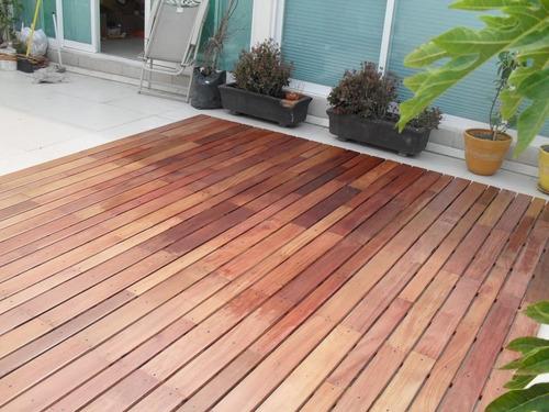 piso madera deck cumaru selecto tratado exterior