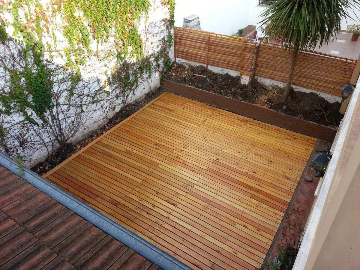 Piso madera deck teca exterior en mercado libre for Dec para terrazas