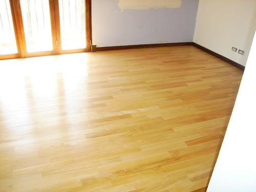 piso madera guatambu entablonado 3/4 x 7cm 1ª cal. 1250$ xm2
