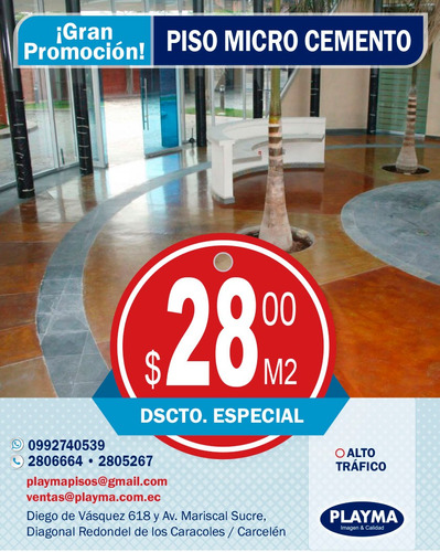 piso microcemento, decorativo $28,00 /  2806664 quito