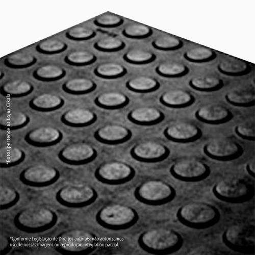 piso moeda preto academia borracha pastilhado placa 50x50 cm