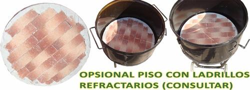 piso o base redonda con ladrillos refractarios para brasero