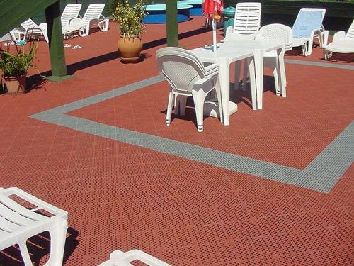 piso para encastrable para exterior baldosa de 30 cm x 30 cm