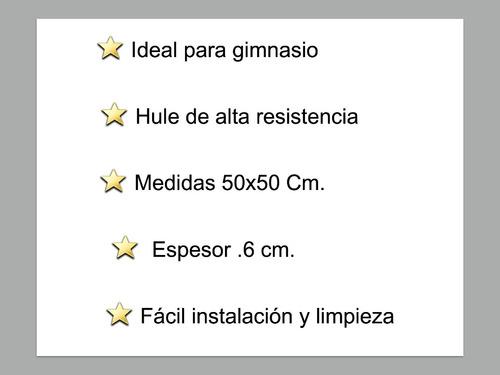 piso para gimnasio (hule de alta resistencia)