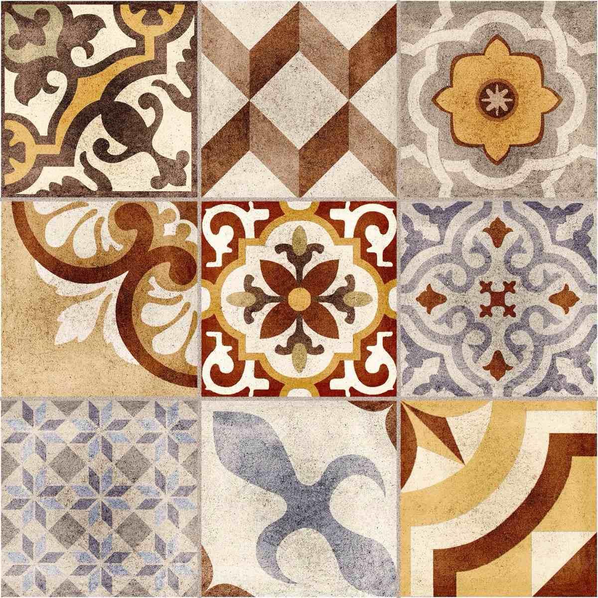 Piso porcelanato patchwork hd 60x60 modelo mosaico for Mosaicos para pisos precios