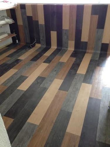 Piso pvc vinilico tipo madera texturizado resistente al for Ceramica tipo madera