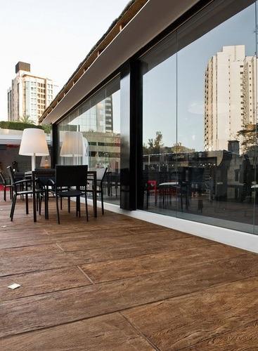 piso tabla simil madera quebracho hormigón 155x21 castelatto