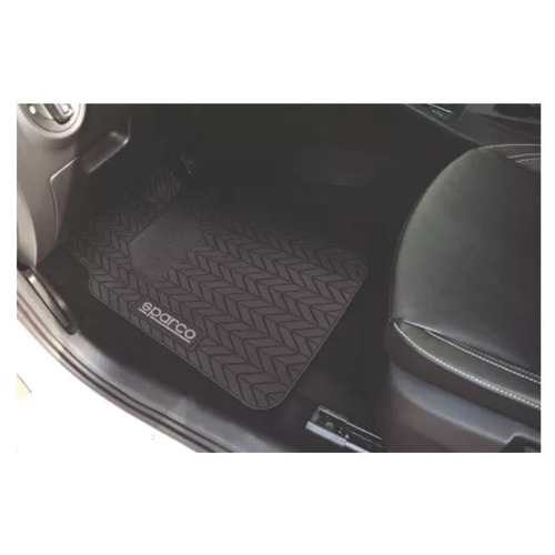 piso tapete 3 piezas goma negro neumatico sparco spf501bk