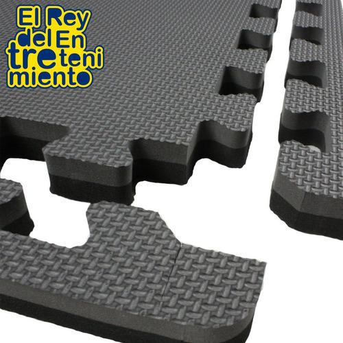 piso tatami goma eva encastrable negro 1x1m 2cm - el rey