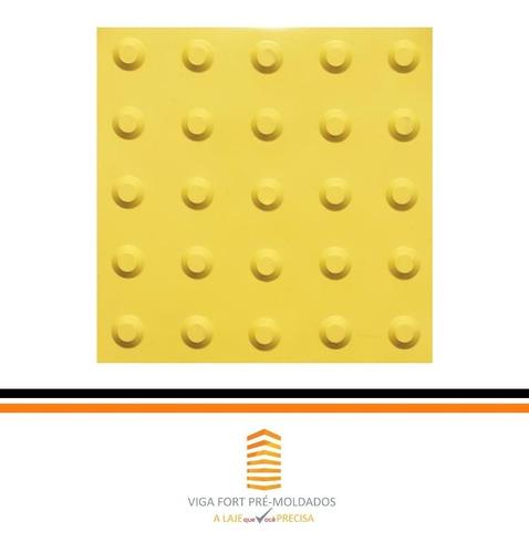 piso tátil concreto alerta amarelo 25x25cm (kit 160 peças)