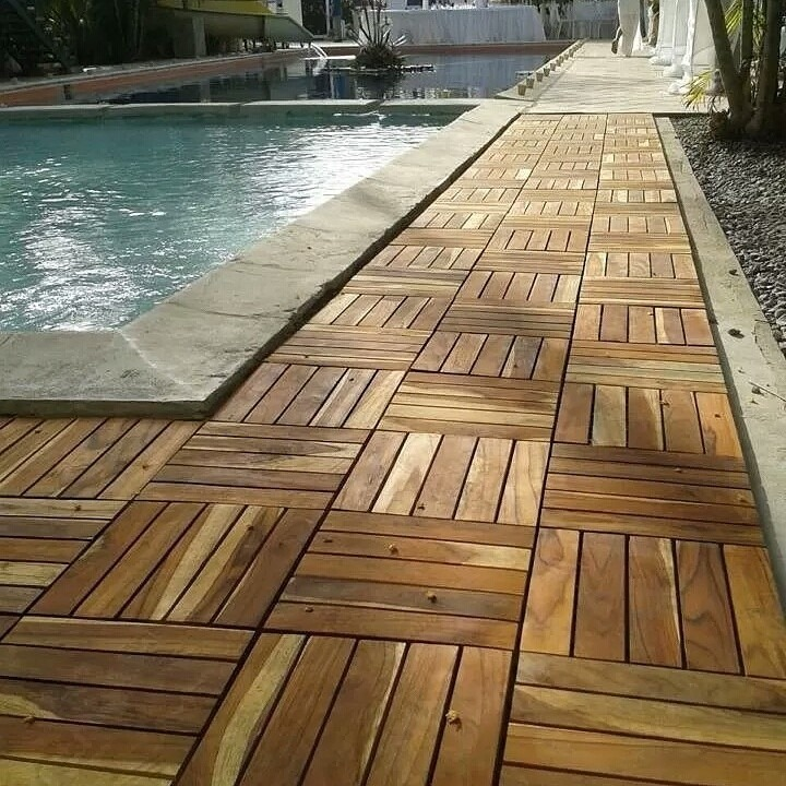 Piso tipo decks en madera natural de teca bs Tipos de pisos de madera