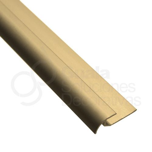 piso vinilico cuarta caña aluminio anodizado 2m pf 1300