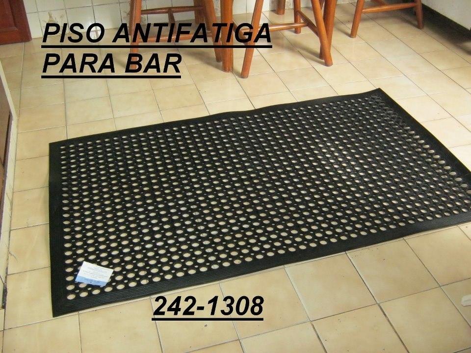 pisos antifatiga para cocina ocre y negro para bar s 1