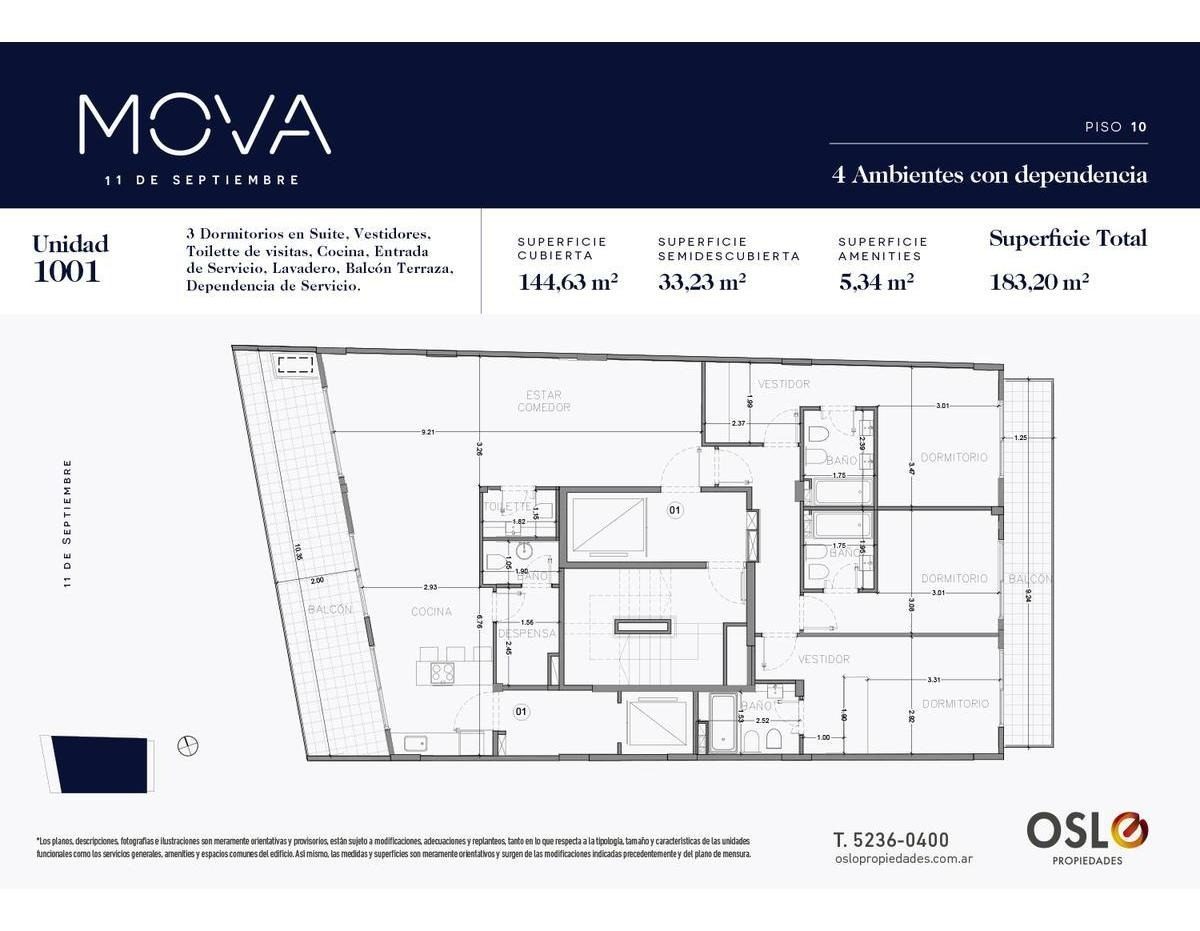 pisos de 4 ambientes con dependencia de 183m2 en belgrano