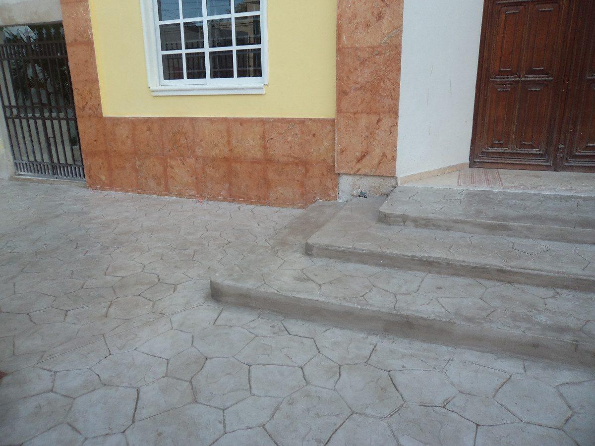 Pisos de concreto estampado en mercado libre Cemento estampado precio