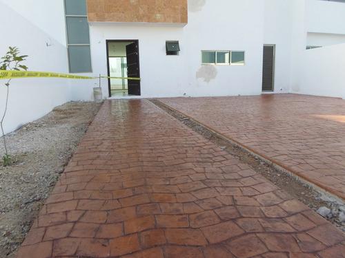 pisos de concreto estampado stancolor concretos decorativos