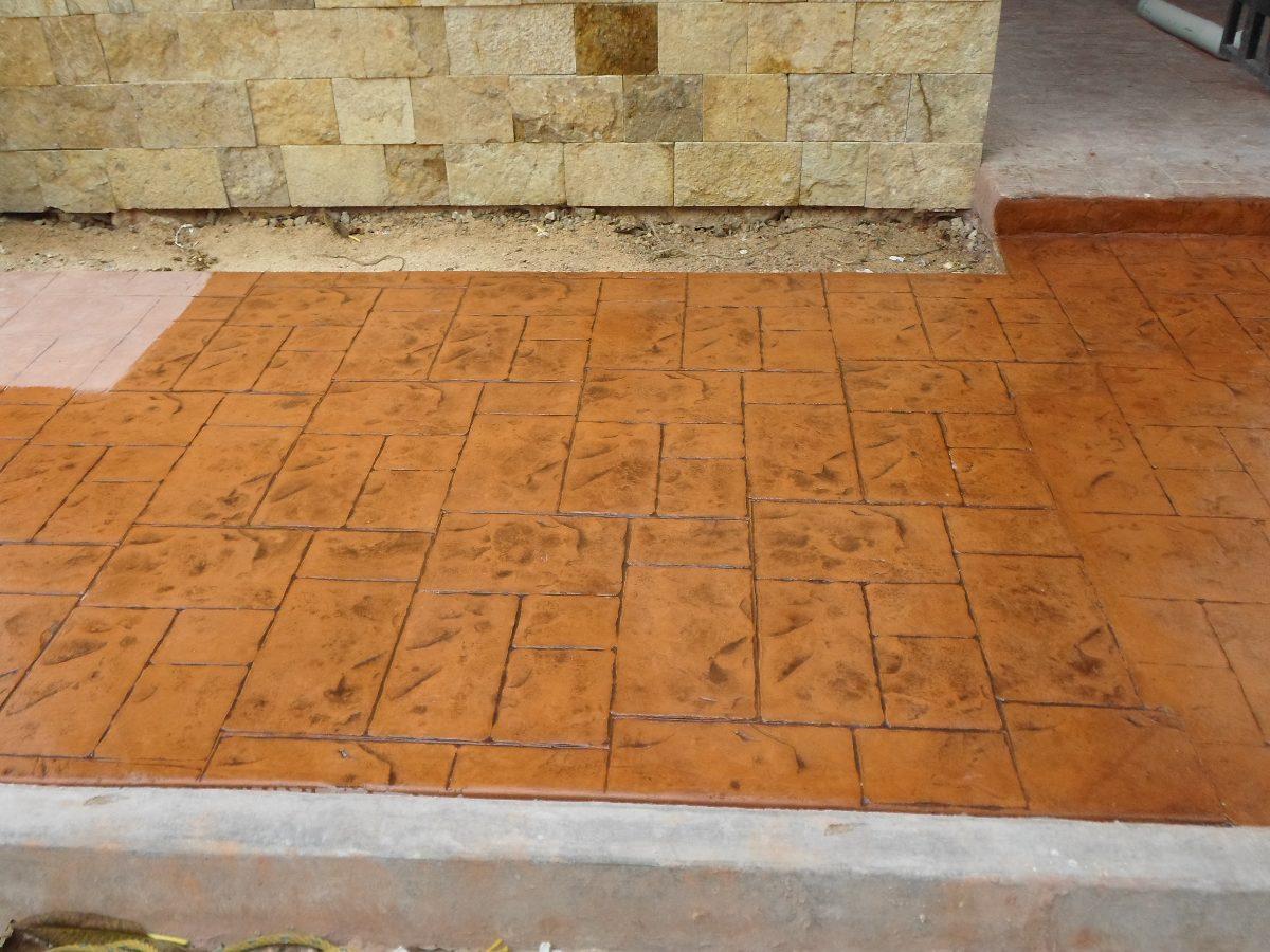 Pisos de concreto estampado stancolor concretos for Precio del mercado de concreto encerado