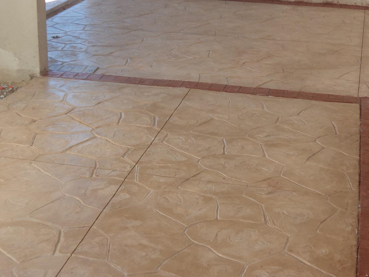 Pisos de concreto estampados en mercado libre Cemento estampado fotos