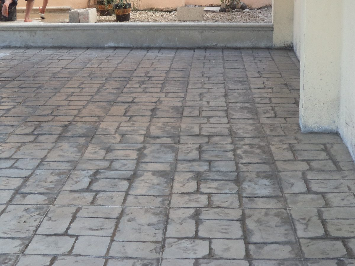 Pisos de concreto estampados en mercado libre for Cemento estampado precio