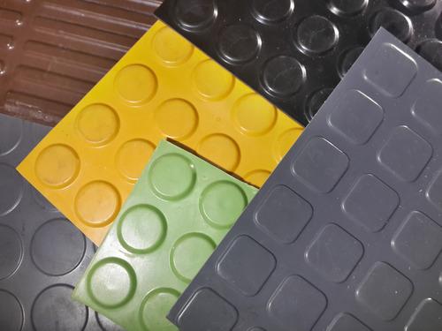 pisos de goma vulcanizada (botón)