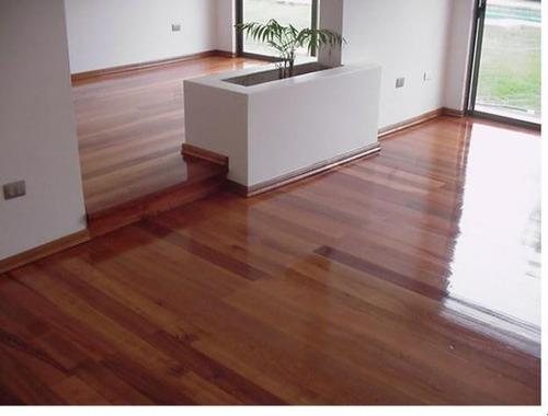 pisos de madera. sist prefinish listo p/transitar maderclass
