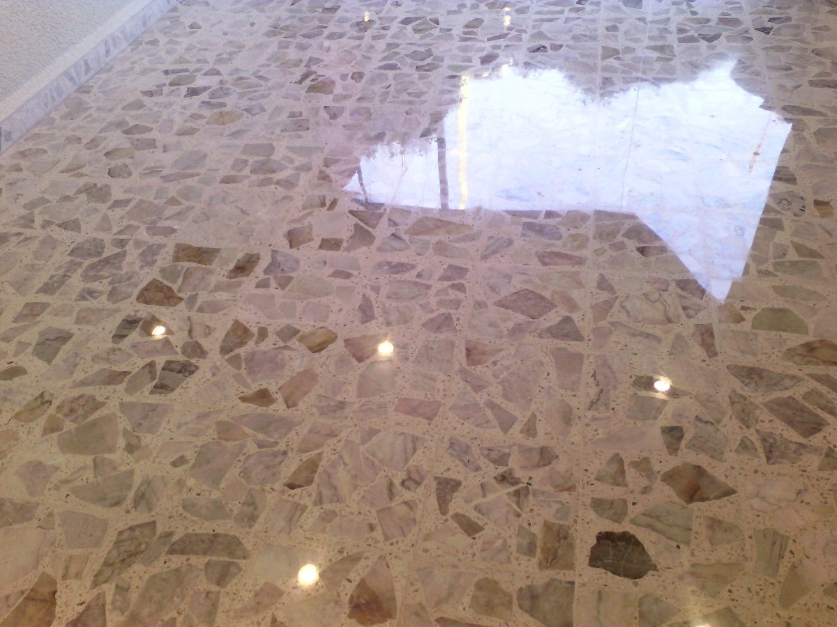 Pisos de terrazo pulido en mercado libre - Como pulir un piso de cemento ...