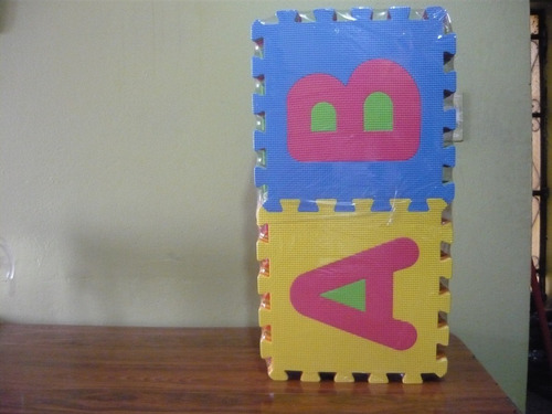 pisos didácticos antigolpes para bebes letras
