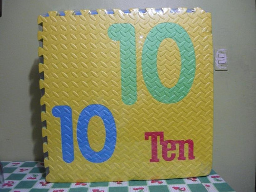 pisos didácticos para bebes 10 baldosas 12mm: números