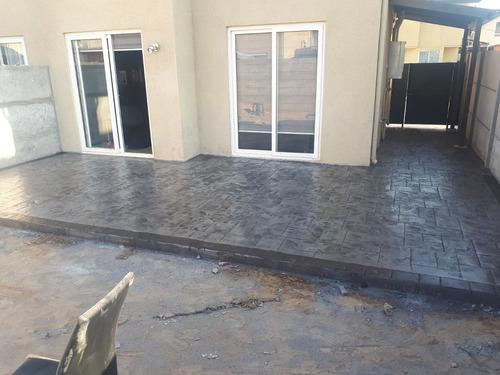 pisos en hormigón estampado y hormigon pulido