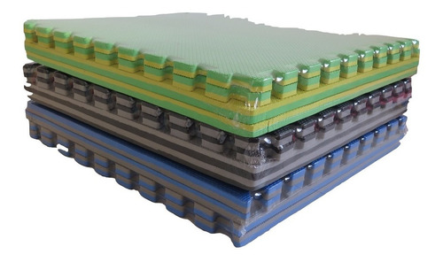 pisos encastrable de goma eva 1x1 x25 mm x 6 piezas
