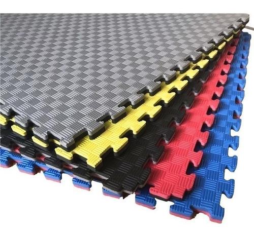 pisos encastrable de goma eva 60x60x20 mm x 4 pzas con borde