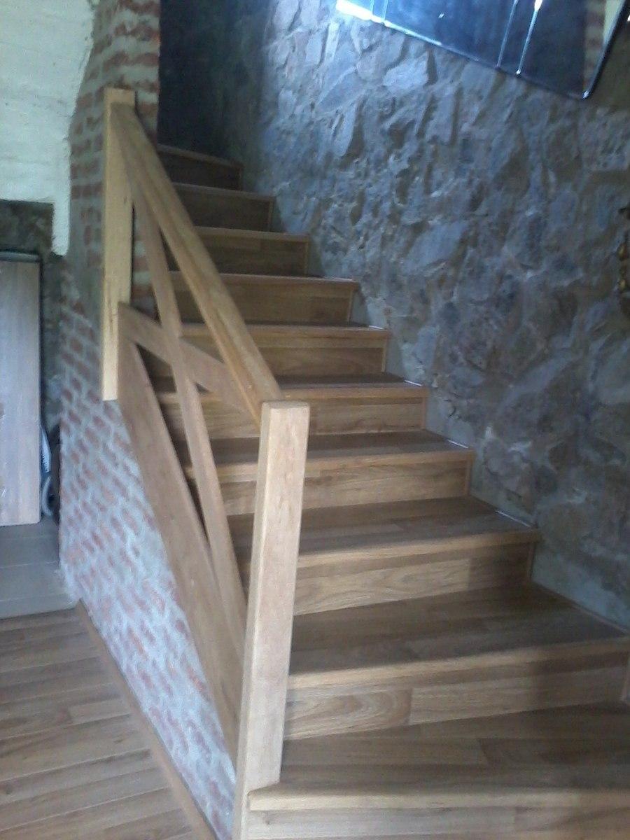 Pisos flotante revestimiento de escaleras tarimas entrepiso 750 00 en mercado libre - Revestimiento para escaleras ...