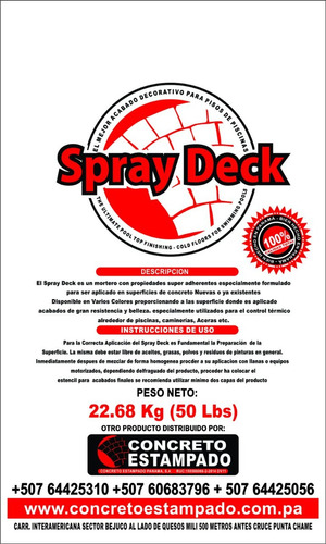 pisos frios spray deck