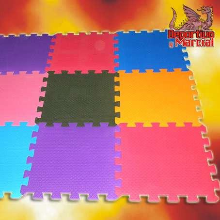 69eef643192 Kit 9 Pisos De Goma Eva 50x50 Cm Bebes Chicos Niños Colores ...