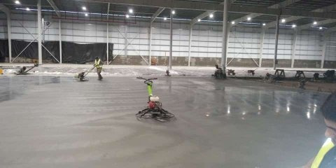 pisos industriales allaneado hormigón