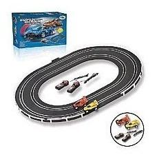 pista autorama elétrica com 2 carros brinquedo infantil 47pç