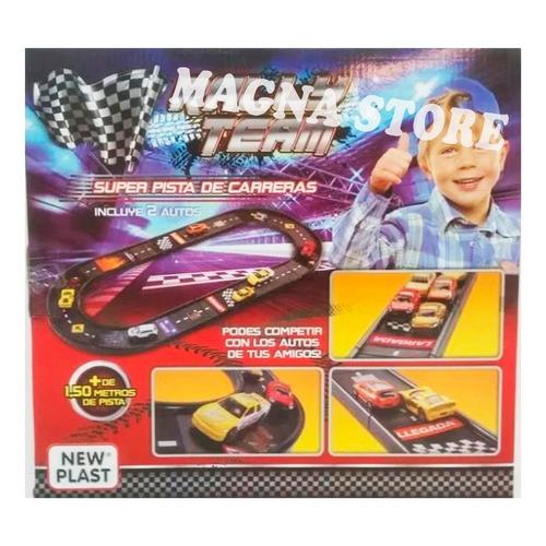 pista carrera autos infantil + 2 autitos new plast +3 años