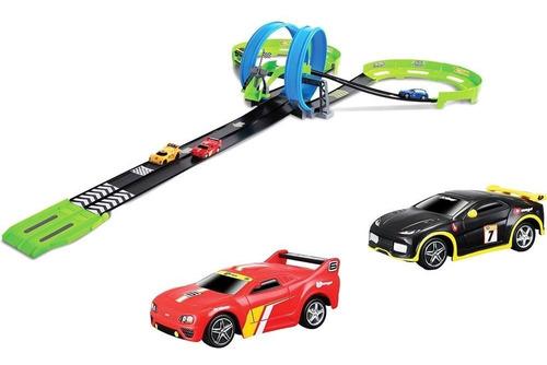 pista carrinhos gogears dual daredevil raceway - burago