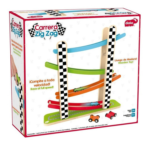 pista carritos de madera juguete niños