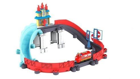 pista chuggington rescate en llamas original jugueterialeon