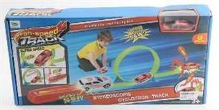 pista c/looping c/auto y lanzador