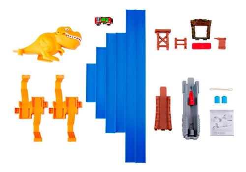 pista de autos de dinosaurios t rex juguetes metal machines